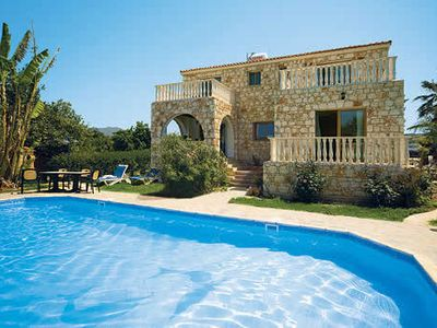 Photo for Stylish Villa w/lovely surroundings, pool, large terrace, and BBQ