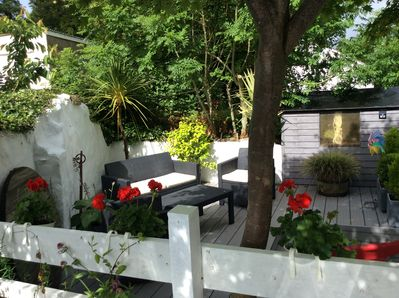 New outside decking & seating area