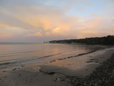 Winter sunset at Studland