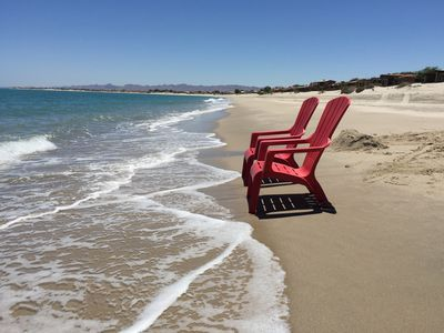Photo for Beach Front Getaway on Sandy Beach with Wi-Fi