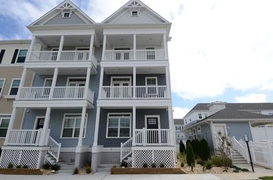 Unit on the right and balconies with bay views from 2nd and 3rd floors