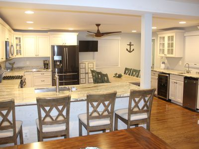 Photo for 2 BLOCKS TO BEACH, 1 TO BAY.  LOTS INCLUDED.  BEST KITCHEN.  WE SLEEP 15.