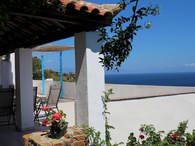 Photo for Spectacular, vast view of the Messenian bay - holiday house with wifi | Peloponn