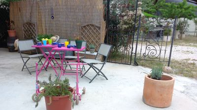 Photo for Large studio for 2P at 3km from the beach ste marie the sea, terrace, lounge, park
