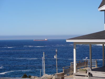 passing tanker from deck
