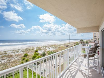 Photo for *AMAZING VIEWS* Beachdrifter 301 Oceanfront south-end w wrap balcony