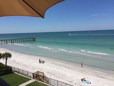 View from the balcony with private beach access