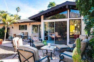 Patio - Welcome to Montecito! Your mid-century modern retreat is professionally managed by TurnKey Vacation Rentals.