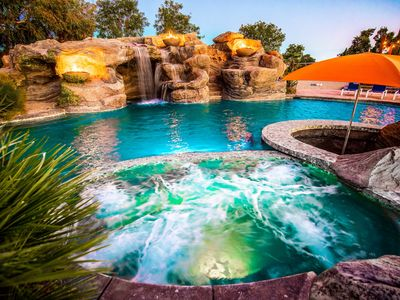 Photo for Prvt Estate w/ Swim-Up Bar, Volleyball Crt & Arcade | Sleeps 14! ❤ by AvantStay