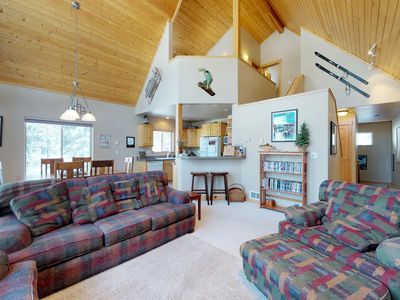 Photo for Spacious cabin w/shared pool, hot tub - near town & outdoor activities, dogs ok!