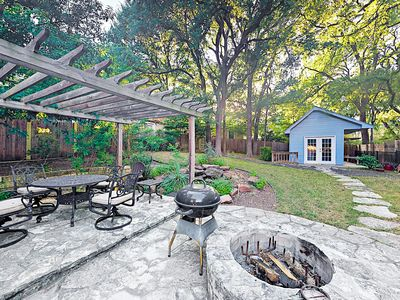 Fire Pit - One of the most popular features of the homes - after walking back from ACL relax out back with the fire pit.