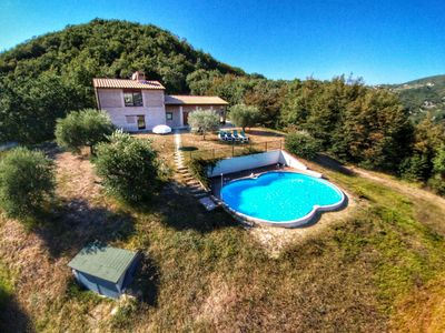 Photo for A stylish villa in the hills near Assisi.