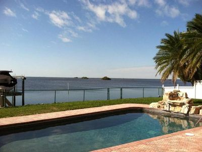 Photo for Large Luxury Gulf Front House With Private Dock On Water