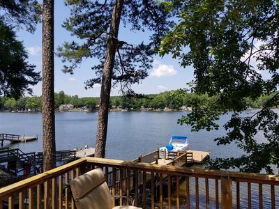 Photo for Lake front cottage with dock