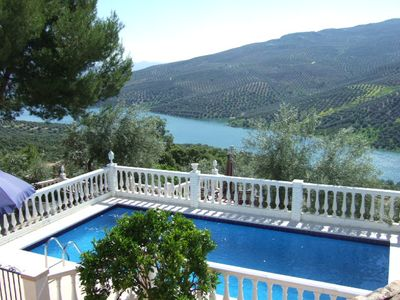 Photo for *****Casa Feliz ***** Outstanding private villa & pool with dazzling lake view