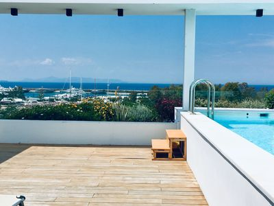 Photo for New modern duplex with a roof terrace with a private pool and fantastic sea view