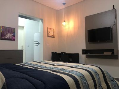 Photo for Charming kit for 2 people, 200 meters from the beach in the heart of Boqueirão