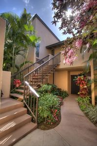 Our front entry - Welcome to our Maui home!