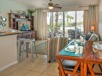 Photo for Gulf 103-Beach Side 1 BR + Bunk Condo--Closest to the Beach @ DW