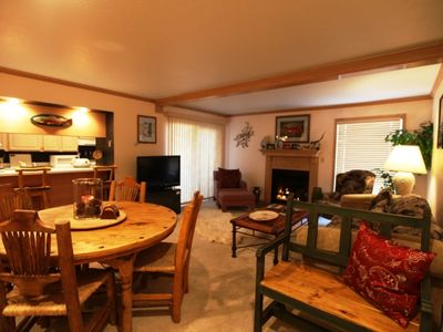 Photo for Mountain View Vail Condo Free parking, WiFi, Pool, Hot Tub, on Town Bus Route