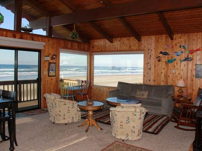 Photo for Beautiful Oceanfront Hm w/ Panoramic Ocean Views, Hot Tub & Easy Beach Access