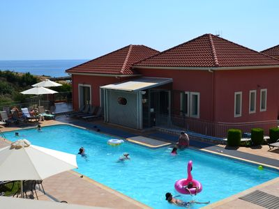Photo for Kefalonia:2 bedroom apartments Skala- swimming pool,bar,green lawn with sea view