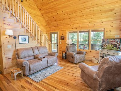 Photo for Boone Log Cabin in the Woods, Pet Friendly, Grill, Covered Porch