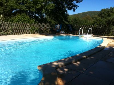 Photo for PLATANE FOR 2 PERS - HEATED SWIMMING POOL BBQ WIFI - GULF OF STTROPEZ