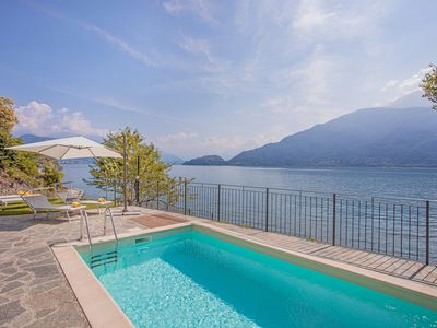 Photo for Brand new luxury lakeside villa with private pool and 180 degree lake views.