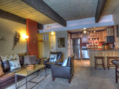 Photo for Ski-In/Ski-Out Mountain Side - Sleeps 4 Free Shuttle, WIFI, Fireplace, Clubhouse