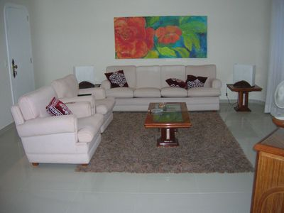 Photo for Beautiful apartment one block from the beach in prime area