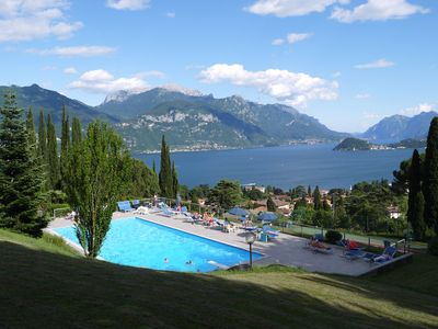 Photo for Italian Lake Apartment With Large Swimming Pool, Tennis Court, Lake Views