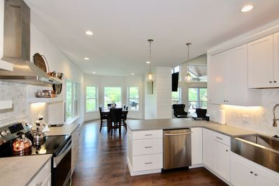 Enjoy the open kitchen and living room.