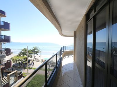 Photo for Excellent apt. erm beachfront property in Meia Praia - the best beach in S.C.