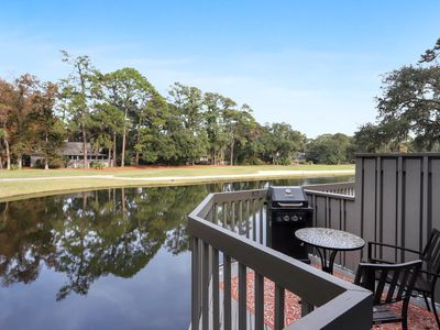 Photo for Sea Pines 2 Bedroom Golf Course and Lagoon view, short walk to Harbour Town.