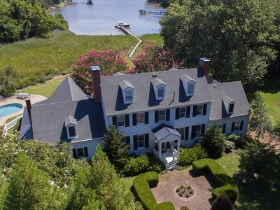 Photo for Luxury Waterfront 6 Bed Weekly Rental, saltwater pool, dock, Oxford, Maryland