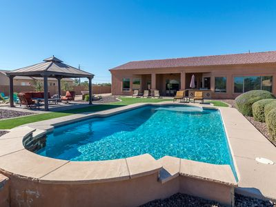 Photo for Expansive Vacation Home for your next AZ Vacation! Back yard PARADISE!