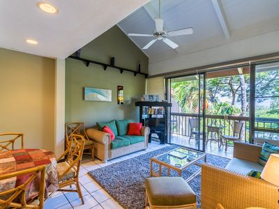 Photo for Family friendly unit with partial ocean view, top floor at Maui Vista (MV 2413)