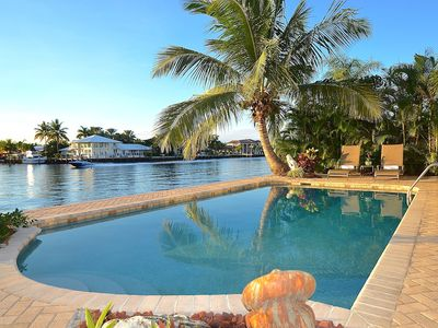 Photo for BTSVV'S-Riviera:WATERFRONT-private Heated Pool-walk to beach!