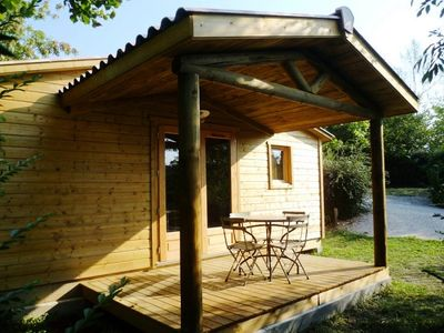 Photo for Camping Pré Fixe **** - Chalet Eco-nature 3 Rooms 4 People