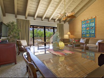 Photo for Quiet, Private Paradise M208 steps to the tropical pool