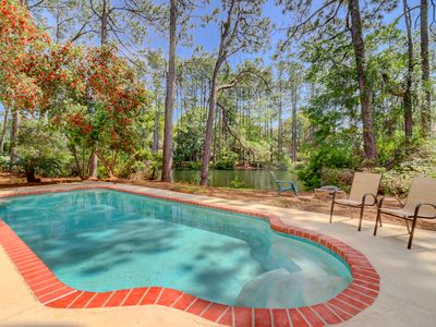Photo for Updated Luxury 3 BR Home Private Pool Lagoon Views Palmetto Dunes Granite Stainless Steel Hardwood