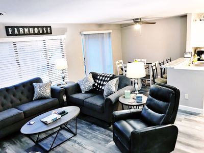 Photo for 🌟New Lake Front unit ready 4 you!  🌟- sleeps 12 in beds, w/king bed, WiFi, pets