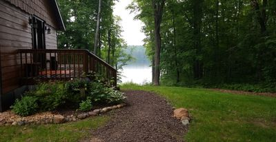 Secluded Cabin on 13 acres; Private 50 acre lake
