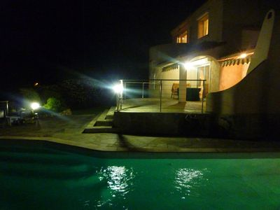 Photo for conditioned 130m2 villa with heated pool panoramic view of mountains