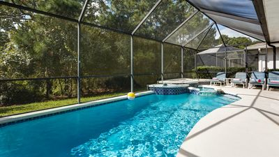 South Facing Pool is not overlooked and in colder months is heated to 85 degrees