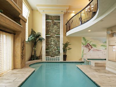 Photo for Indoor Heated Pool, Hot Tub, Fireplaces.. Sleeps 12 Close to AC Casinos!!