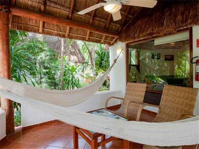 Photo for Lovely Palapa Bungalow. Lush Tropical Settings. Garden Unit #123