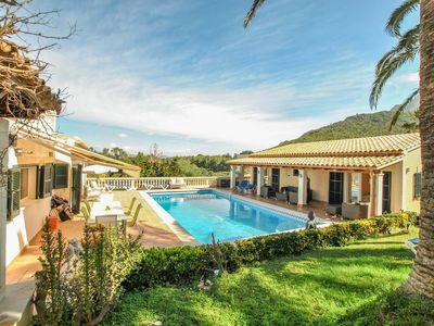 Photo for luxury 10 person villa with private pool and sea view over the bay of Pollensa
