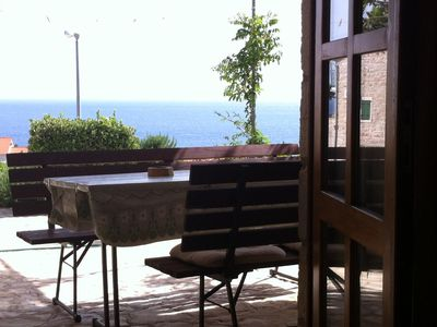 Photo for Two bedroom apartment with terrace and sea view Ivan Dolac (Hvar) (A-15483-a)